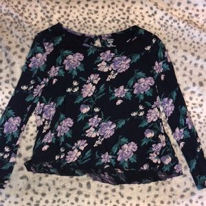 Girls old navy floral long sleeve top
